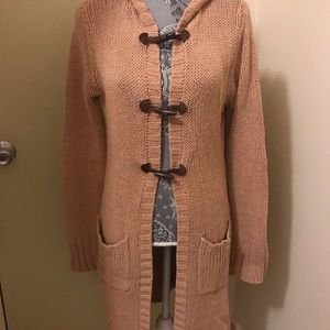 Juniors Long Sleeve Toggle Button Cardigan Size L